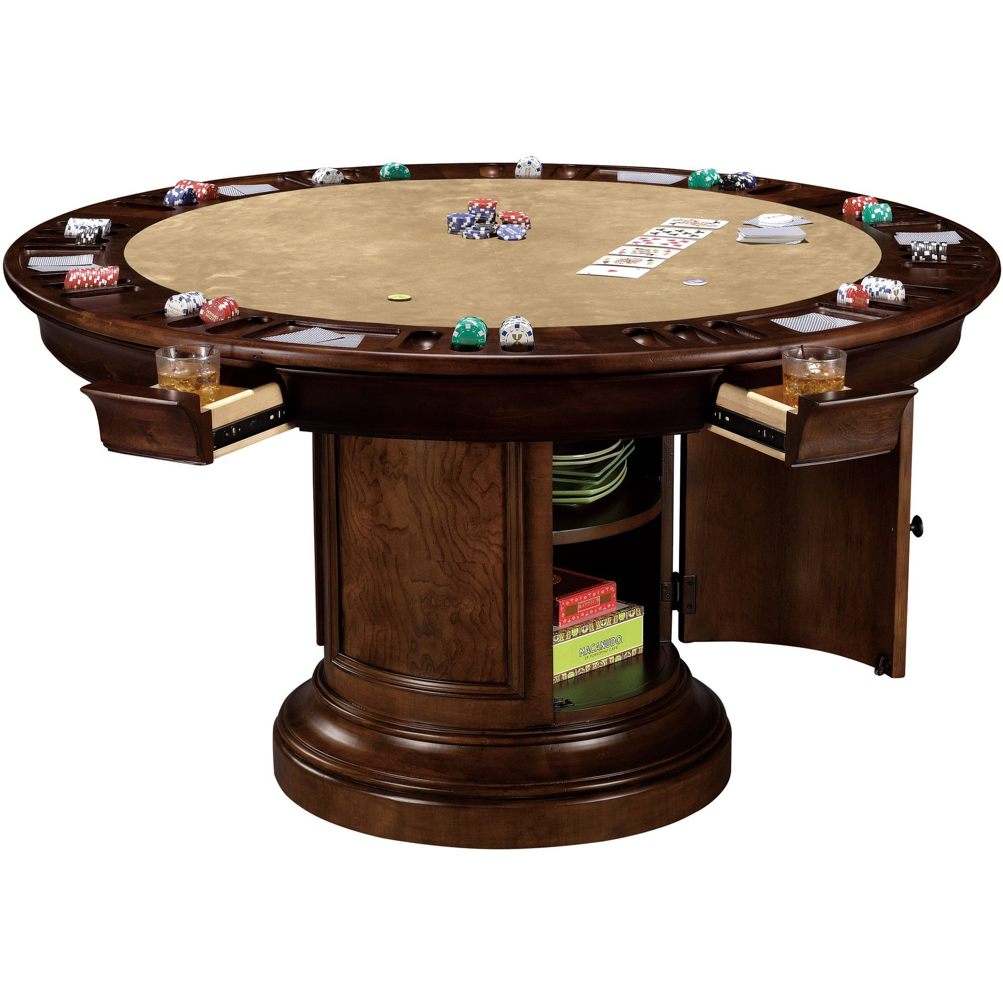 Howard Miller Ithaca Poker And Dining Table Convertible Modern