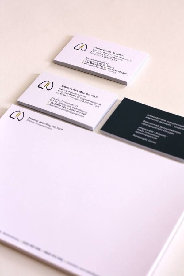 Physician\'s business card by Tatiana Marza. Interesting abstract ...