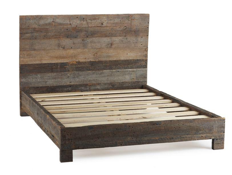 Barnwood Bed Frame | Coyuchi | Remodel | Pinterest | Bed frames, DIY ...