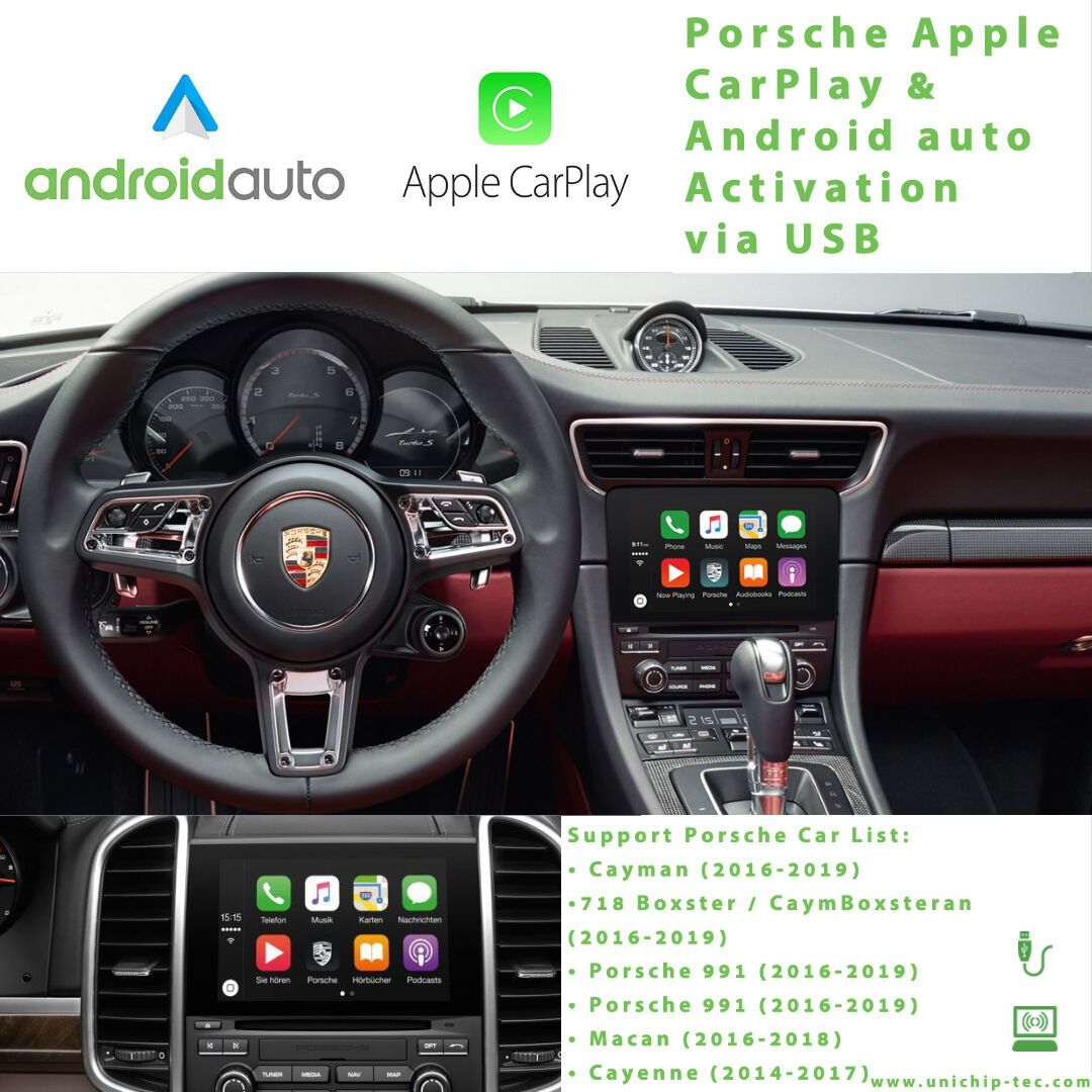Activate your Porsche Apple CarPlay & Android auto via USB