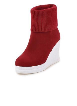 Zapatos Botas Plataforma Botas al tobillo Tipo de tacón Ante  ...