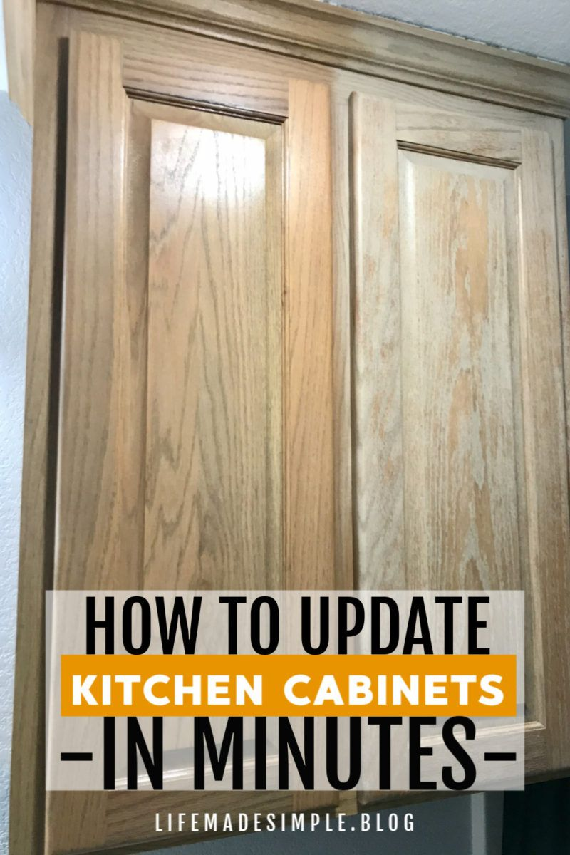 How To Update Old Wood Kitchen Cabinets No Sanding Or Painting In 2020 Pine Kitchen Cabinets Wood Kitchen Cabinets Update Kitchen Cabinets