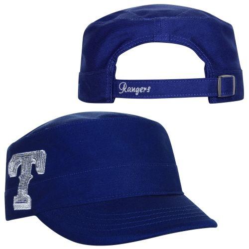 2c1208cc2bf  47 Brand Texas Rangers Ladies Sparkle Military-Style Adjustable Hat - Royal  Blue