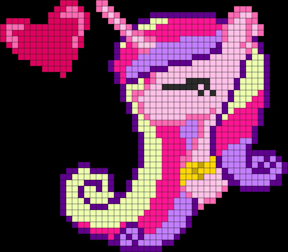 My Little Pony Princess Cadence Profile Perler Bead Pattern Pixel Art Facile Pixel Art Pixel Art Licorne