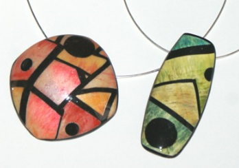 Pastel Stained Glass Brooch and Bracelet with Sylvie Peraud #craftartedu