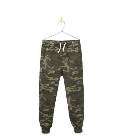 Camouflage Plush Sporty Trousers Trousers Boy 2 14 Years Kids Zara Israel Boy Outfits Kids Fashion Boy Kids Outfits