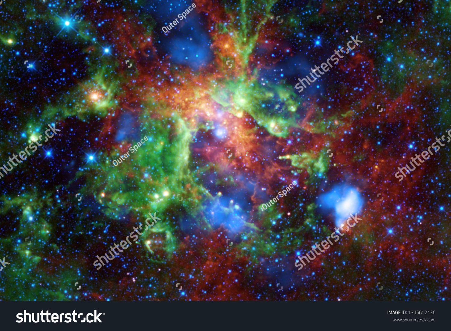 nebula starfield cluster of stars in outer space Science fiction art Elements of this image furnished by NASA Beautiful nebula starfield cluster of stars in outer space S...
