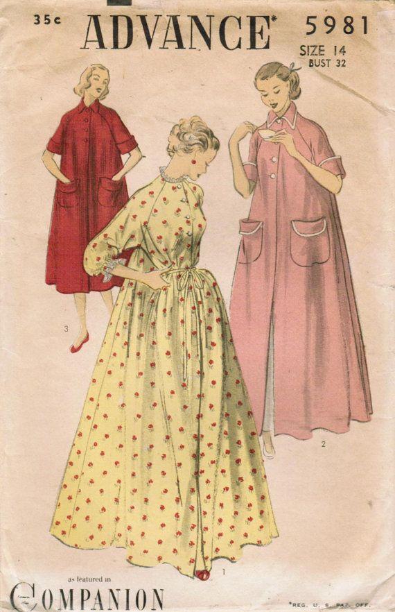 e1c83589bb 1950s Advance 5981 Vintage Sewing Pattern by midvalecottage ...