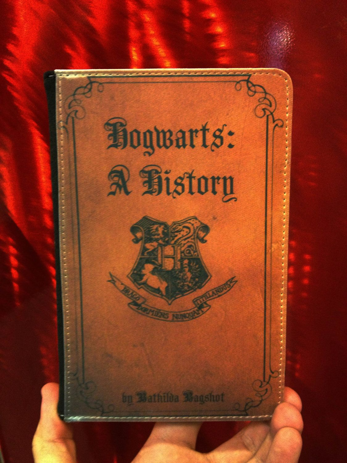 Book Cover Photography History : Hogwarts a history kindle fire leather book cover case