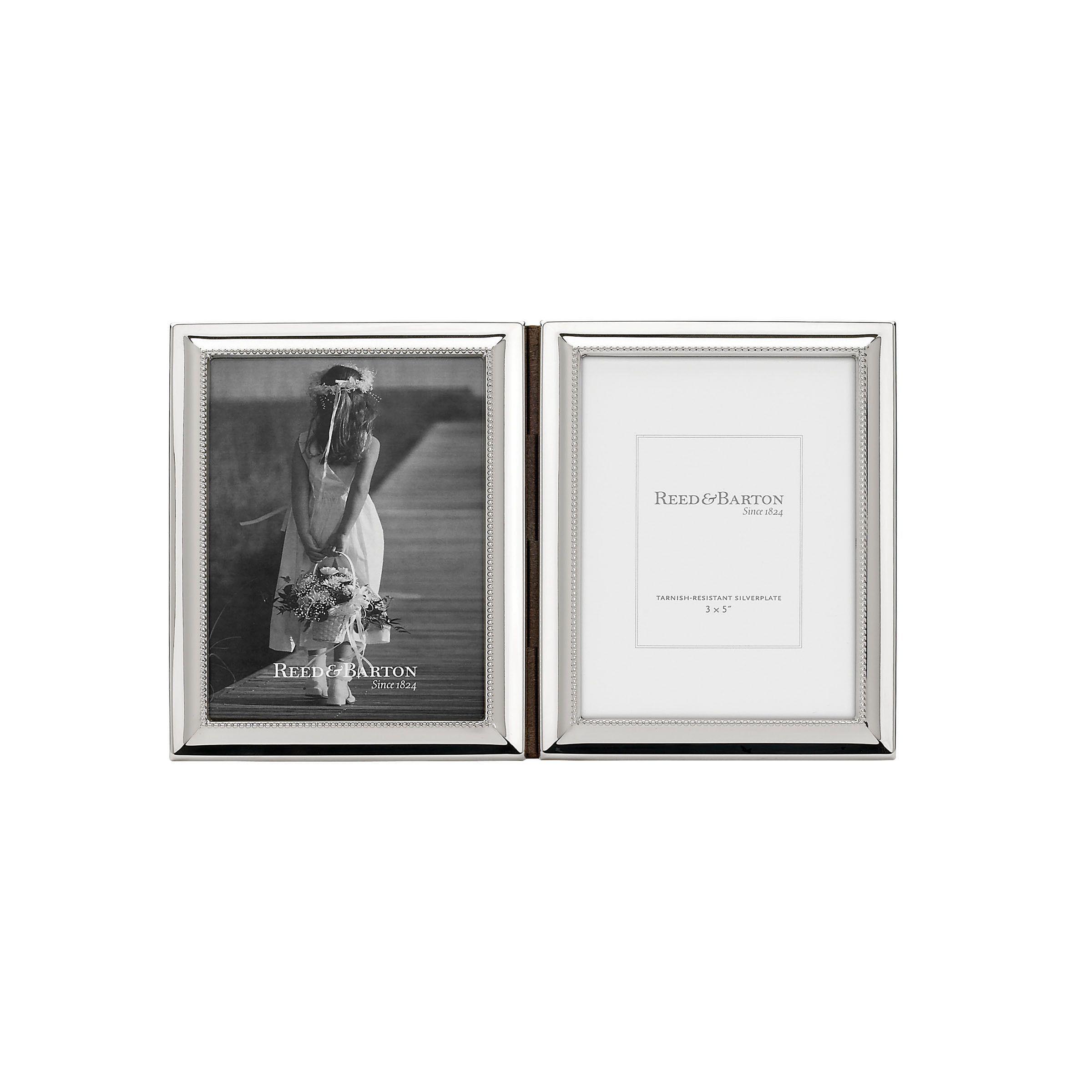 Reed & Barton Capri Silvercolored Glass and Metal 3-inch x 5-inch ...