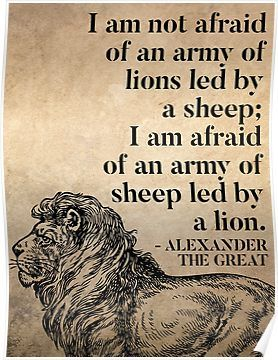 Alexander the Great: 'Alexander The Great Quote On Leadership' Poster by knightsydesign.  'I am not afraid...