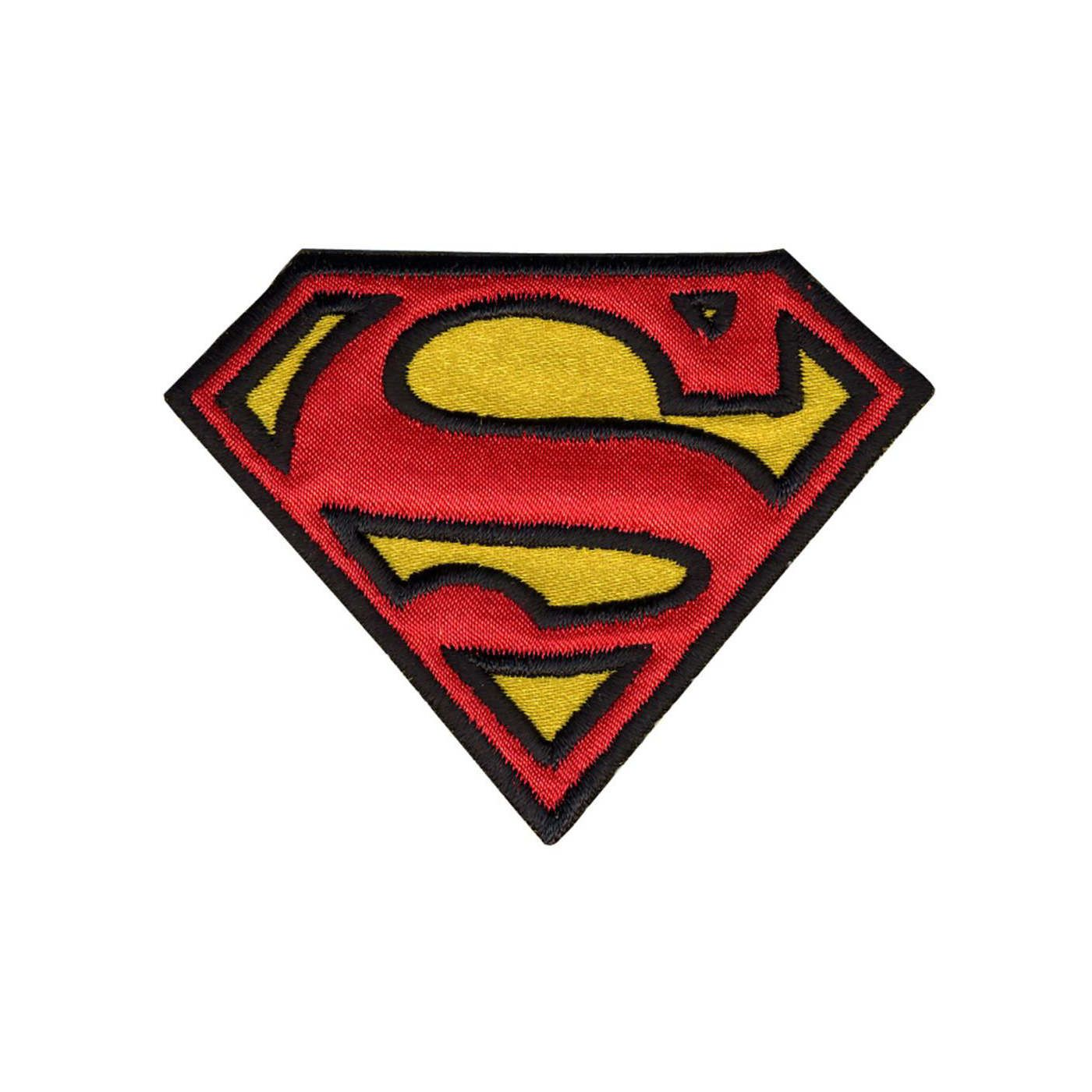 Superman Logo Iron On Patch Official Dc Comics Iron On Applique