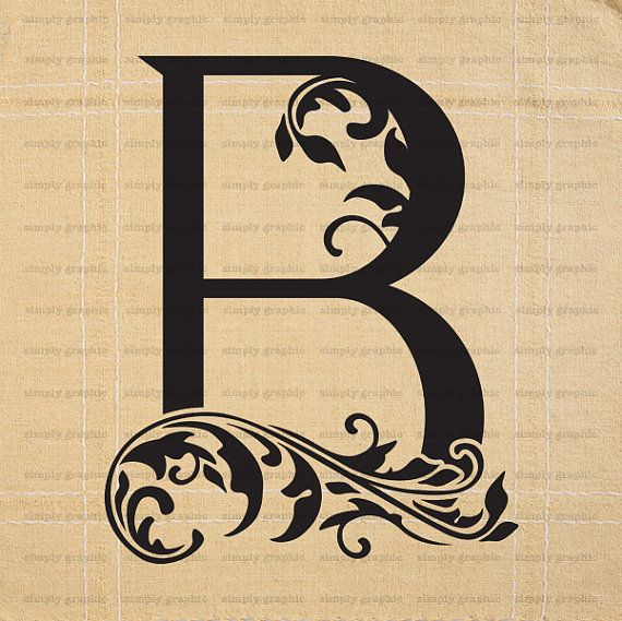 Large Initial Letter B Wall Decor Letter by SimplyGraphicStore ...
