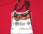 Recycled Starbucks bag purse