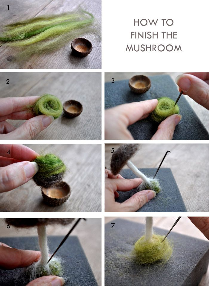 How to Make a Needle-Felted Mushroom