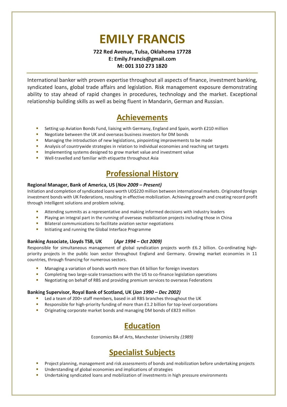 Bank Resume Template Download Bank Resume Template For Freshers World Bank Resume Templat Resume Template Free Professional Resume Template Job Resume Template