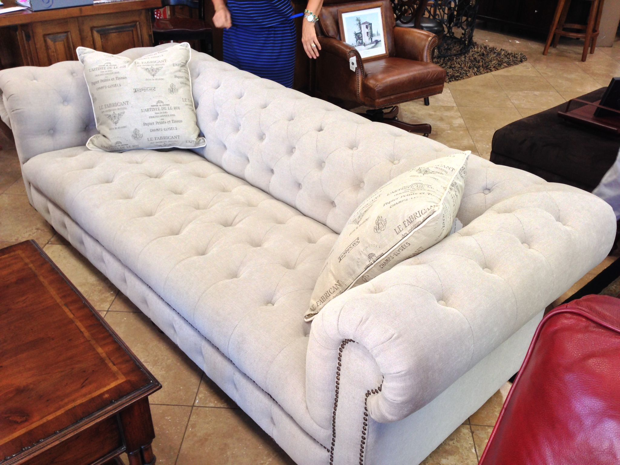 Pintuck Couch In Los Gatos