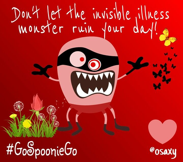 Invisible illness monster - Go Spoonie Go!