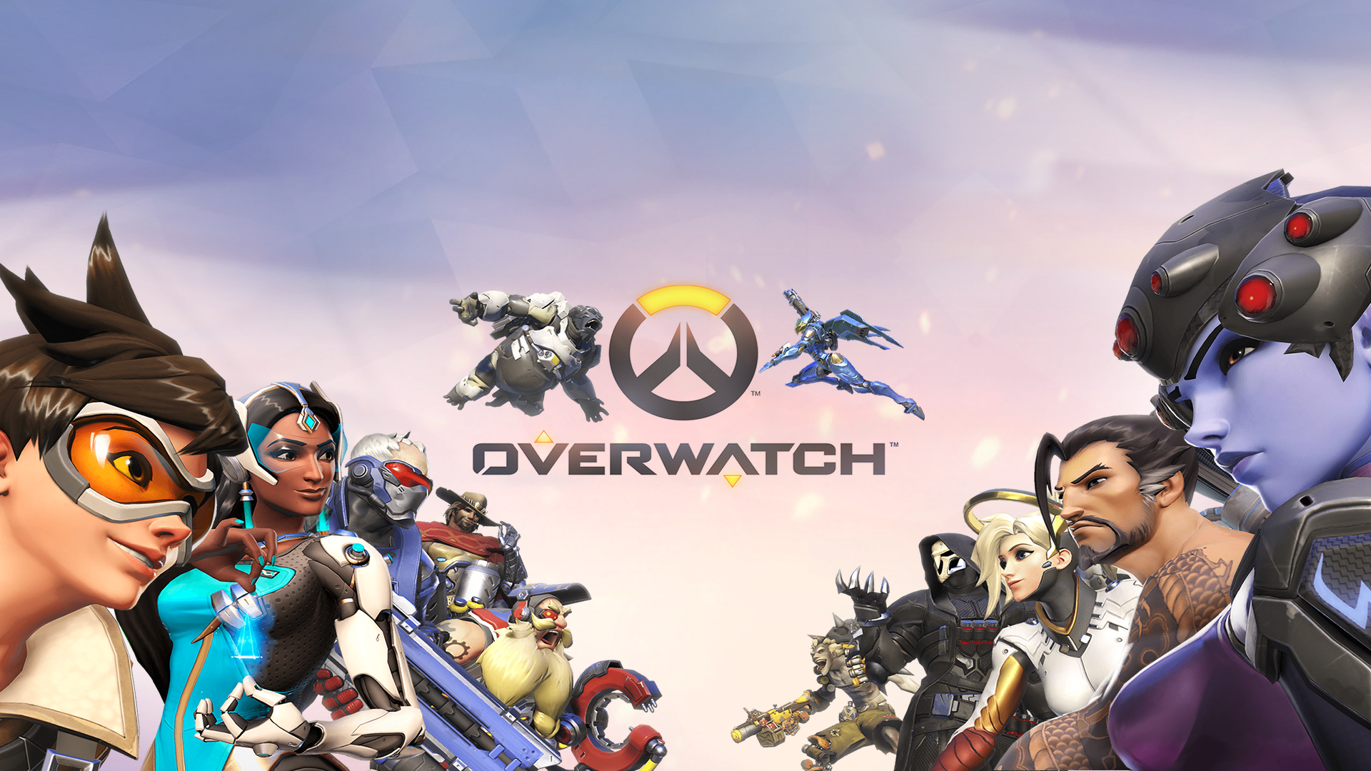 Video Game Overwatch  Symmetra Widowmaker Junkrat Soldier: 76 Pharah Torbjörn McCree Winston Mercy Hanzo Reaper Tracer Wallpaper