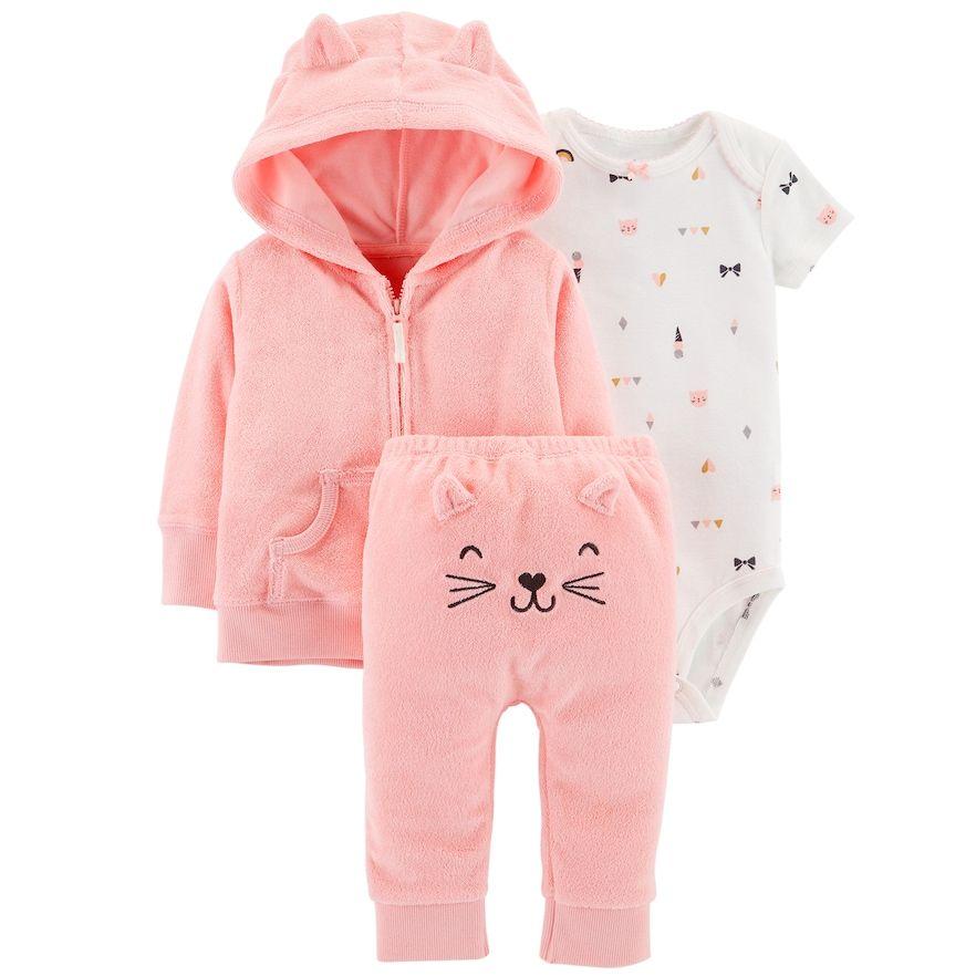 4e3a7a4e8 Baby Girl Carter s Print Bodysuit