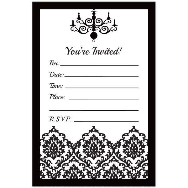 Black And White Birthday Invitations Marialonghicom Maria Longhi  Birthday Invitation Cards Templates