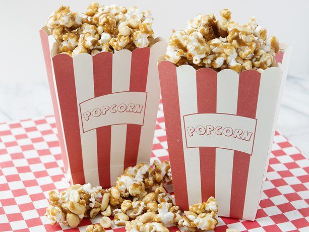 Homemade Caramel Popcorn and Peanuts Recipe Snack mix