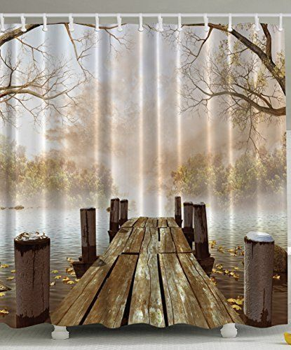 Fall Wooden Bridge Shower Curtain By Ambesonne Http Www Amazon