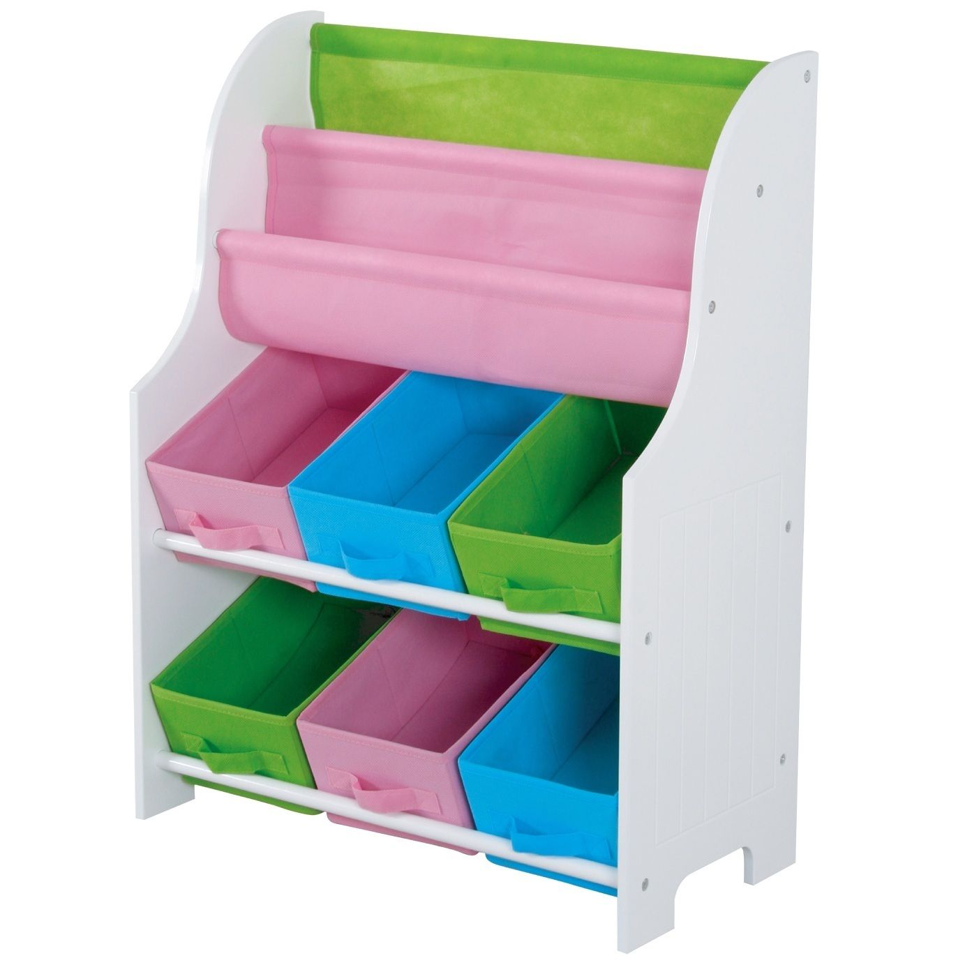 Kids Storage Book Holder And Shelf Provides Decorative E For Books Toys Other Belongings Constructed From A White Fiberboard Finish With