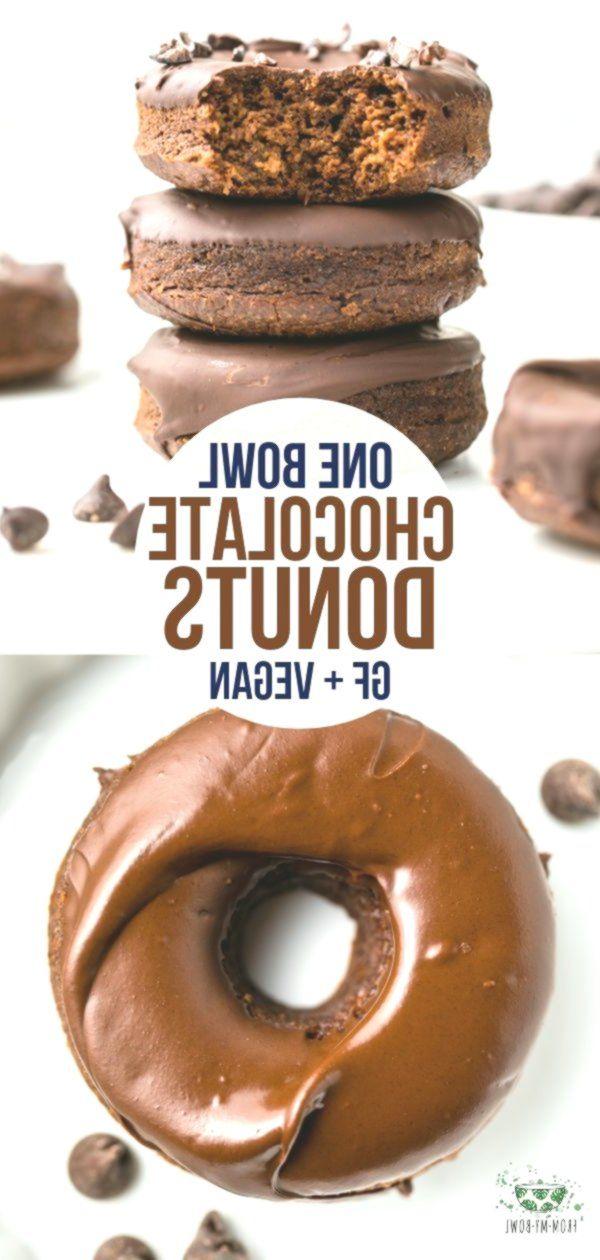Diese flauschigen Chocolate Donuts werden in nur einer Schüssel hergestellt und statt fri ... -