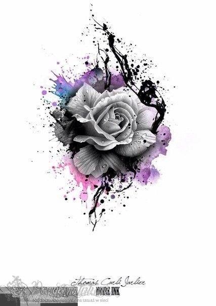 Wzór Tatuażu Róża At Noire Ink Tattoo Tatuaże Tatuaż
