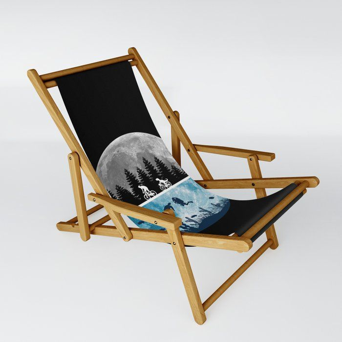 Close Encounters Of The Moon Patio Sling Chair by Gypsy Queen - One Size