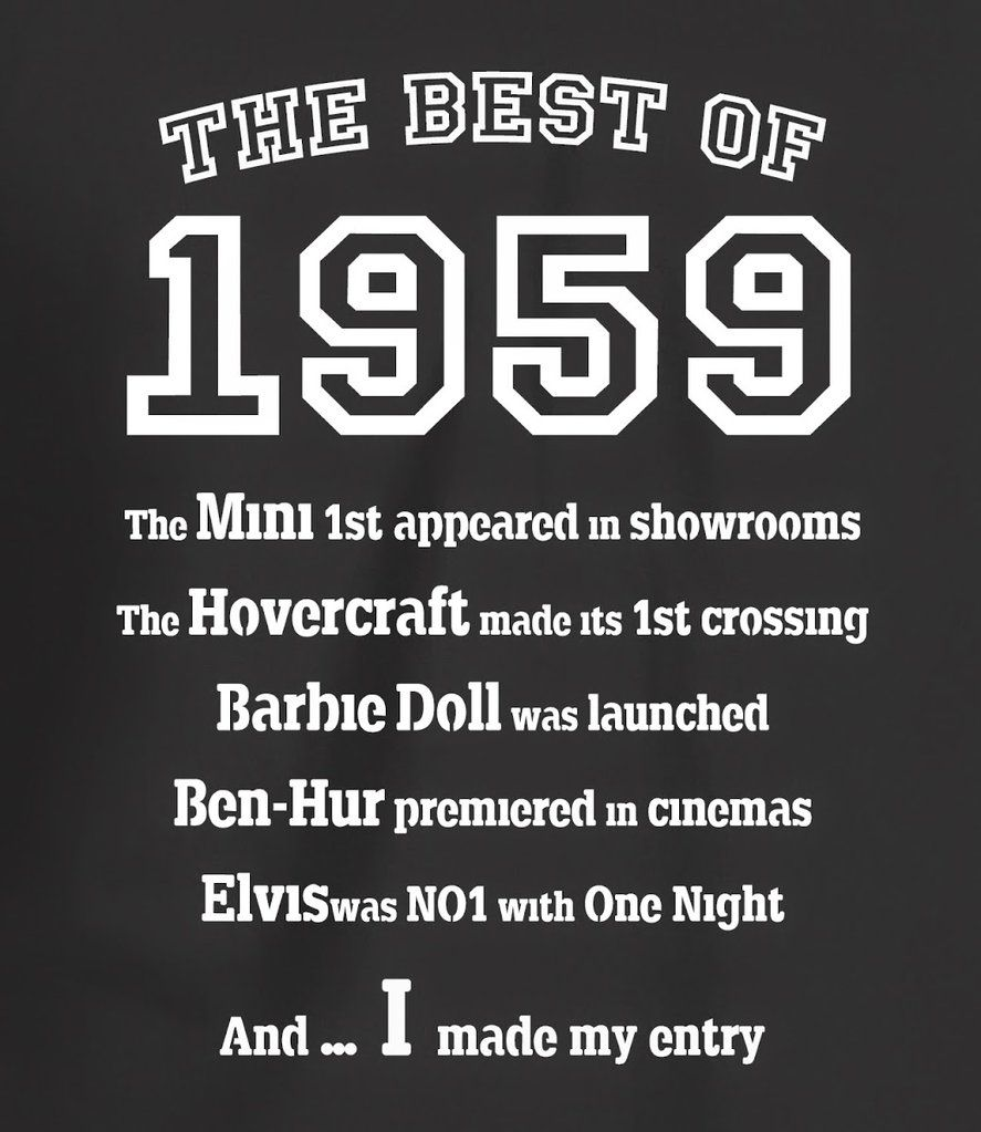 The Best Of 1960- 60th Birthday T Shirt For Men
