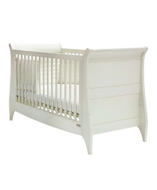 Mamas And Papas Orchard Sleigh Cot Toddler Bed White