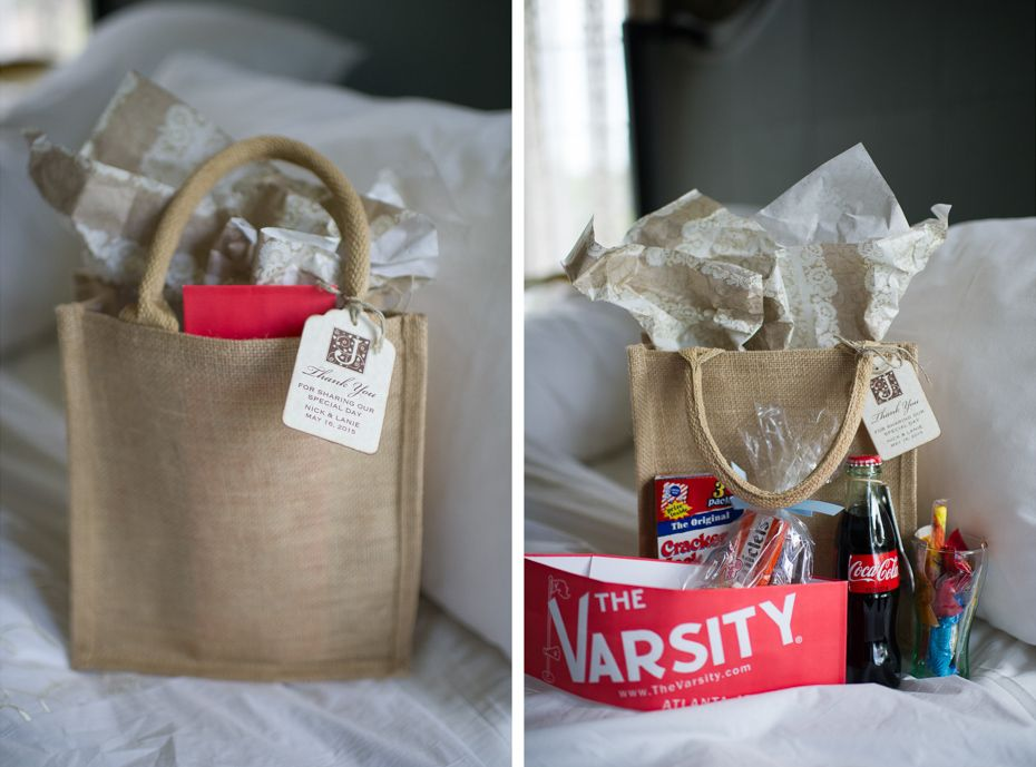 Carl House Wedding Lanie Nick Wedding Gift Bags Wedding Guest Bags Guest Gift Bags