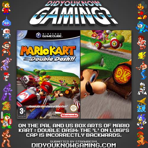 Luigi S L Is Backwards On Mario Kart Double Dash Cover