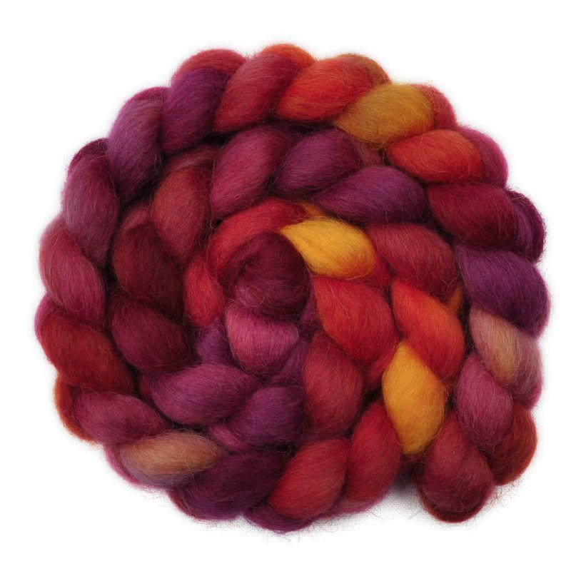 Masham Wool Roving - Clinker Bricks 1 - 4.2 ounces