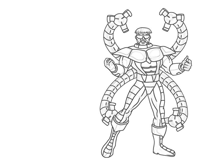 Spiderman Vs Doc Ock Coloring Pages Octopus Coloring Page Marvel Coloring Octopus Colors