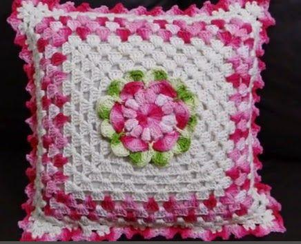 Almofada De Croche Flor Gisele Com Passo A Passo Almofadas De