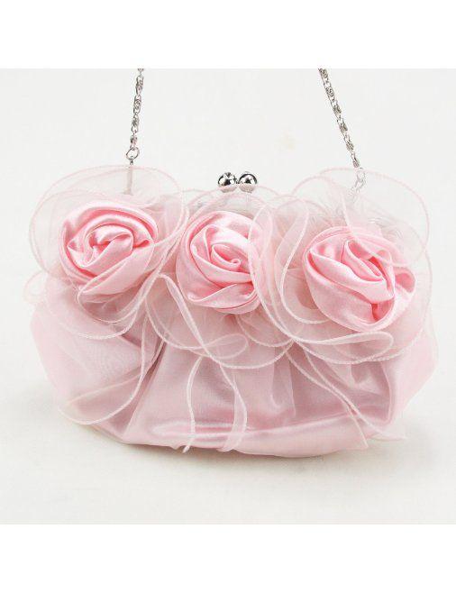 Lady Flower Shape Prom Party Evening Handbag Clutch Bag Gift Ideas