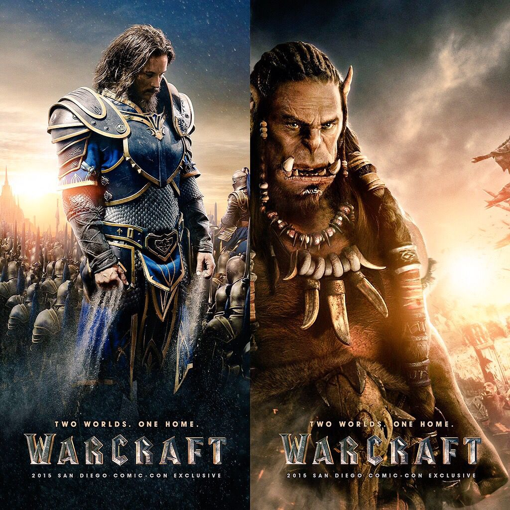 2 Brand NEW !!! Character Movie Posters from War Craft