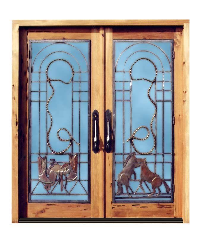 Entry Door Western Style Double Doors 7004gpb House