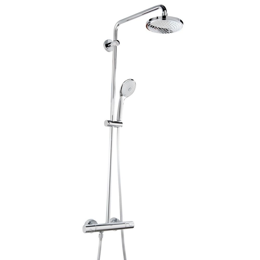 This Shower System Includes A Thermostatic Mixer With