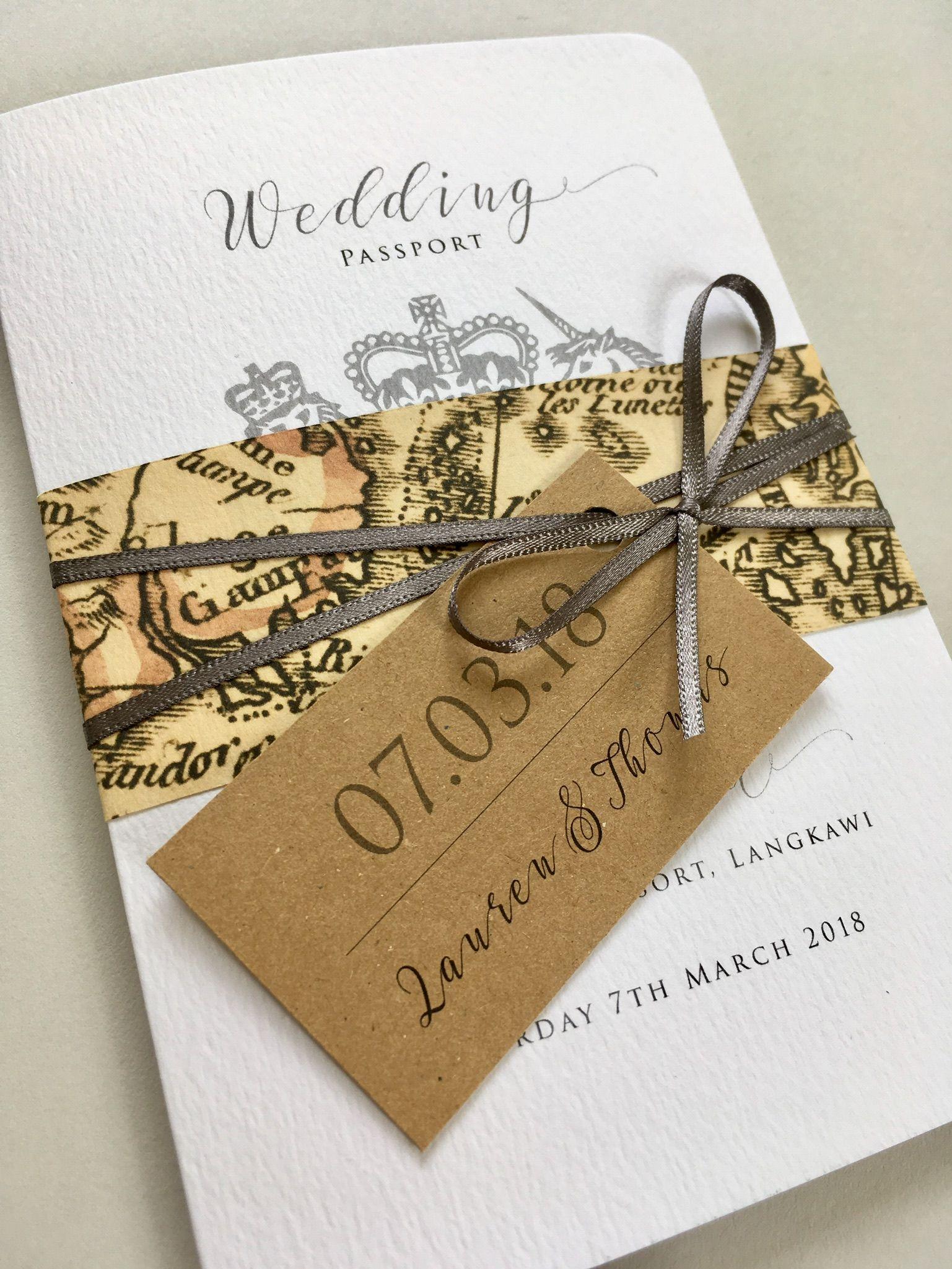 Passport wedding invitation Beautiful wedding stationery lovingly
