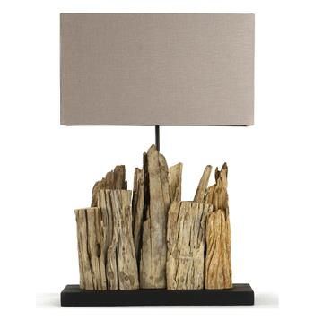 Vertico Riverine Root Modern Rustic Burlap Shade Table Lamp In 2020 Driftwood Lamp Driftwood Decor Rustic Table Lamps
