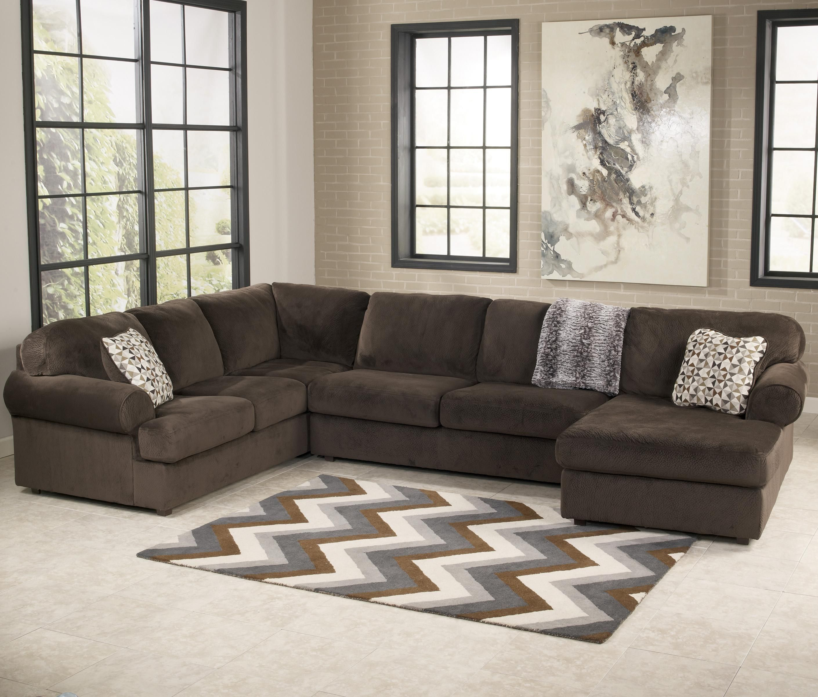 Jessa Place   Chocolate Sectional Sofa With Right Chaise By Signature  Design By Ashley Www.