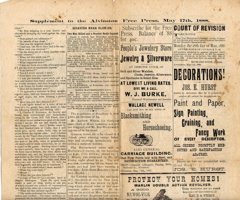 Victorian newspaper and advertisement Victorian – Vintage Newspaper