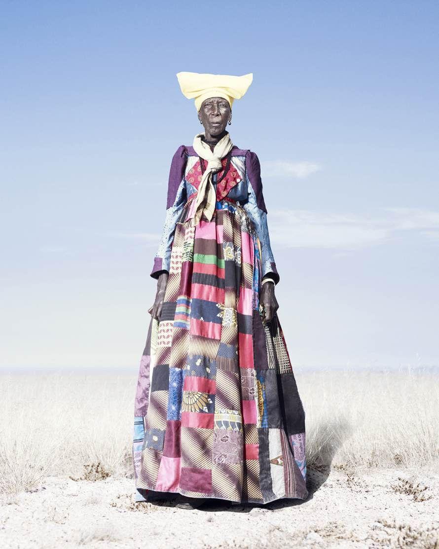 Herero woman in patchwork dressud jim naughten encyclopedia of