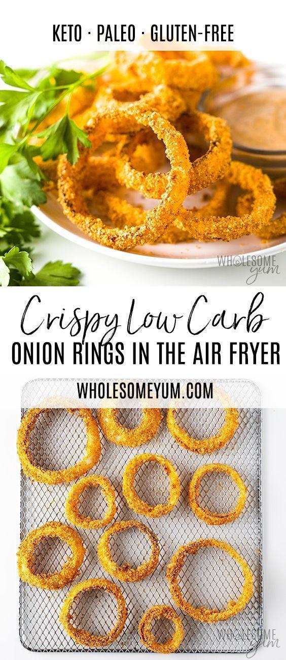 Air Fryer Keto Onion Rings Recipe #airfryerrecipes