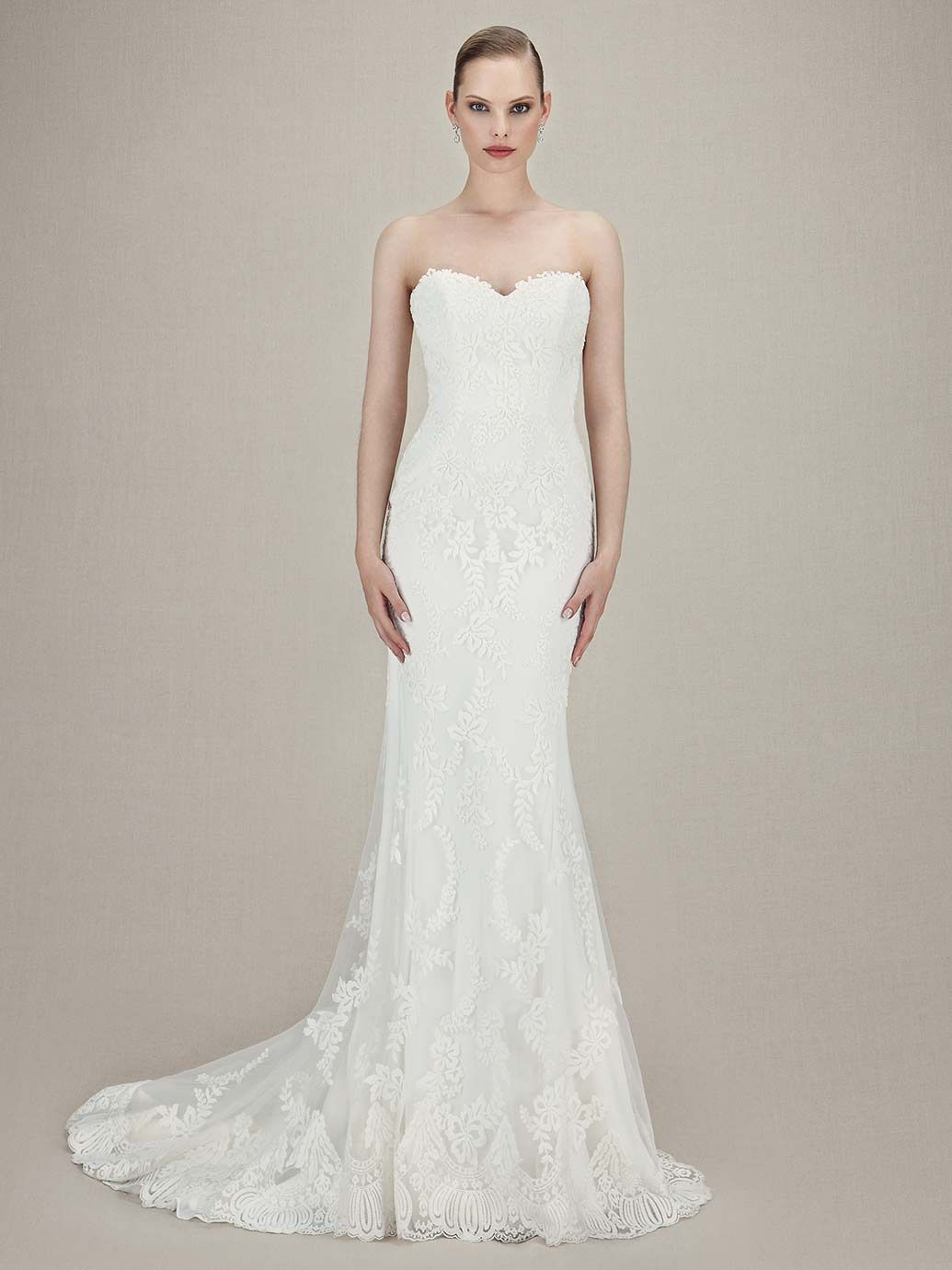 Ball gown wedding dress with bling   Enzoani Karolina Front View  wedding dresses  Pinterest