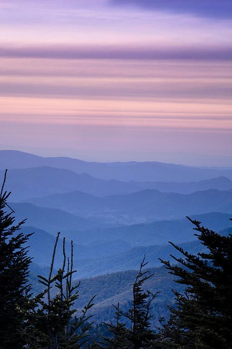 Sunset From The Top By Andrew Soundarajan Blue Ridge Mountains Blue Ridge Mountain Sunset
